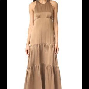 L'AGENCE Silk Racerback Maxi Dress